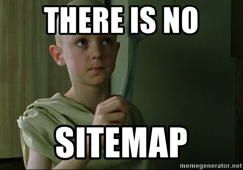 there is no sitemap